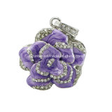 De Stok van het Geheugen Pendrive van de Juwelen USB van de Aandrijving van de Flits van de Rozen USB van de bloem