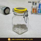 Hermético de cristal italiano recipiente con tapa con bisagras
