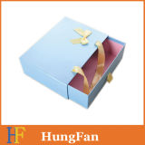 Fabrik-Großhandelslaminierung-Fach-Geschenk-Verpackungs-Kasten mit Farbband-Griff