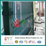 PVC에 의하여 입히는 용접 금속 철망사 담 /Galvanized 용접된 철망판