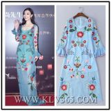 Платье 2016 женщин сбывания лета горячих сексуальное стильное Silk длиннее