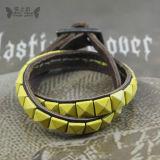 2012 Bracelete em pele genuína de moda jóias de couro (PI0096-7)