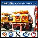 Cimc Huajunのブランド(1SETとして2/3UNITS)の3axle容器の平面トレーラー