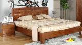 固体木のベッドの現代ダブル・ベッド(M-X2330)