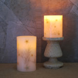 Conchas incrustadas y velas LED de Starfish mayorista China fabricante de velas LED
