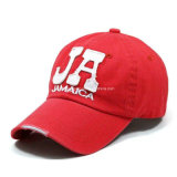 El algodón promocional 100% capsula las gorras de béisbol de los casquillos de la insignia del bordado