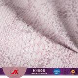 Tessuto di cuoio materiale di cuoio sintetico impresso del PVC Snakeskin della polvere di oro per i sacchetti/pattini