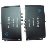 4 canaux de transmission vidéo de la transmission vidéo pour la transmission longue distance (YF-SF804)