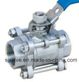 3PC Ball Valve Wcb Ss304 Ss316