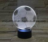 サッカー3D LED夜軽い手法表の机
