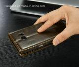 La meilleure caisse en cuir de vente d'unité centrale de la chiquenaude 2016 pour le cas de couverture de téléphone portable de la galaxie S6 de Samsung