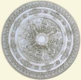 Medallón del techo del poliuretano/medallón decorativo del techo