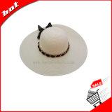 Chapéu de papel flexível de Sun da mulher da palha