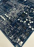 Placa de circuito do PWB Fr4 da camada dobro com máscara azul da solda