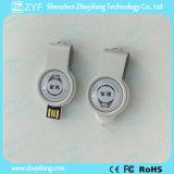 Il metallo rotondo gira l'azionamento dell'istantaneo del USB con l'indicatore luminoso del LED (ZYF1753)