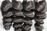 8A最上質のバージンの毛の緩い波のブラジルの毛のよこ糸