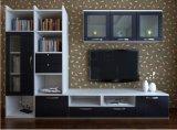 現代居間TVの立場のステンレス鋼のガラスコーヒーテーブル(ZK-001)