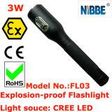 3W à LED IP68 Lampe de poche rechargeable antidéflagrant