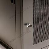 Gabinete fixado na parede da porta do engranzamento de 19 polegadas