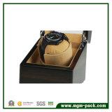 Regleta de embalaje de regalo de madera de lujo con ventana