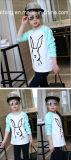 接続された長い袖の綿は子供の着ることの女の子のTシャツを作った