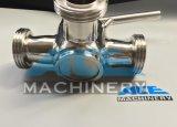 Клапан штепсельной вилки санитарной нержавеющей стали ручной трехходовой (ACE-XSF-GX)