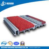 Tapete de entrada decorativo em alumínio fabricado pela China para áreas de alto tráfego