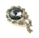La moda gran joya Rhinestone negro Broche Cristal joyas Broches Broches traje de baño de oro (PBr-031)