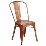 Sillas de metal sillas de comedor apilable para interior/exterior