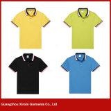 Guangzhou-Fabrik-Großverkauf-preiswertes Baumwoll-Polyester-Unisexpolo-T-Shirts für Männer (P124)
