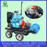 Moteur à essence 180bar 50L / Min 24HP Nettoyeur à tuyaux haute pression Nettoyeur à drainage haute pression