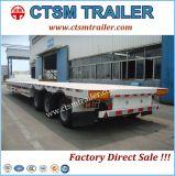Semi Aanhangwagen van het Bed van de Opschorting van de lucht de Lage voor 40FT Vervoer van de Container