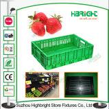 Het Plastic Vouwbare Krat van de supermarkt voor Vruchten en Groenten