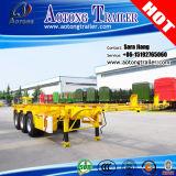 3 Oplegger van de Container van de as 40ton 40FT 20FT de Skeletachtige (flatbed beschikbaar)