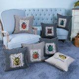 Met de hand gemaakt Decoratief Kussen/Hoofdkussen met het Patroon van het Insect (mx-47)
