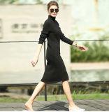 円形の首16brdw003が付いている女性の編まれた長い服