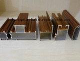 Profilo di alluminio del grano di legno per Windows e polvere del portello che ricopre l'argento d'anodizzazione della rottura termica che lucida polacco dorato