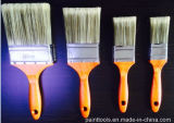 Cepillo hueco del filamento del animal doméstico con la maneta de madera suave
