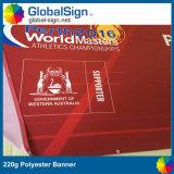 Полноцветная печать ткань баннеры 220g рекламы полиэстер баннер