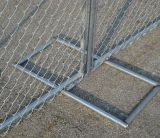 Временно панель загородки ячеистой сети, гальванизированная временно загородка звена цепи