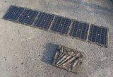 Dobrar a 18V 100W carregador Solar Portátil para carro