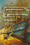 ボートのための3つのDの金属の油絵