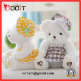Brinquedo de assento do urso da peluche do brinquedo feito sob encomenda do luxuoso