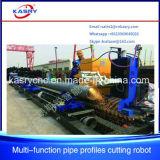 3 Mittellinien-Stahlrohr-Loch CNC-Plasma-Ausschnitt-Maschine