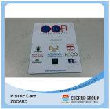 Cartão do transporte do material plástico do ISO 9001