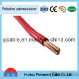 Fio elétrico isolado PVC do único núcleo