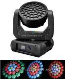 Увеличение 37*12Вт Светодиодные кри Disco освещения сцены промойте перемещение головки блока цилиндров