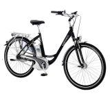 セル李電池を持つElectric Bike女性の