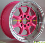 rodas coloridas da liga de alumínio das bordas das rodas 14inch-17inch para o carro