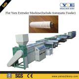 Máquina extrusora de hilo plano de PP y de la máquina rebobinadora